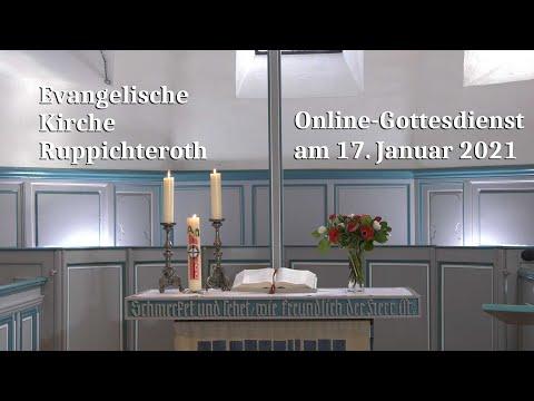Online-Gottesdienst am 17. Januar 2021 in der Evangelischen Kirche in Ruppichteroth