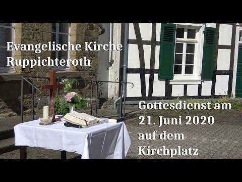 Gottesdienst am 21. Juni 2020 auf dem Kirchplatz der Evangelischen Kirche in Ruppichteroth