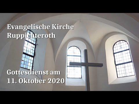 Gottesdienst am 11. Oktober 2020 in der Evangelischen Kirche in Ruppichteroth