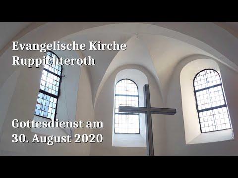 Gottesdienst am 30. August 2020 in der Evangelischen Kirche in Ruppichteroth