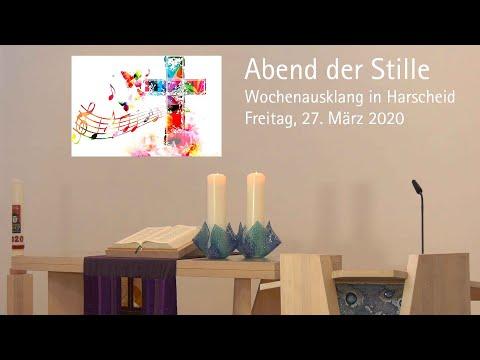 Abend der Stille: Andacht in Harscheid am 27. März 2020